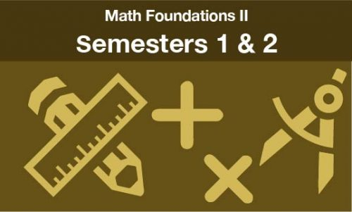 math foundations 2 Semesters one and two