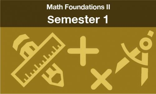 math foundations 2 Semester one