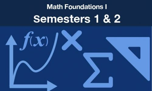 math foundations 1 Semesters one and two