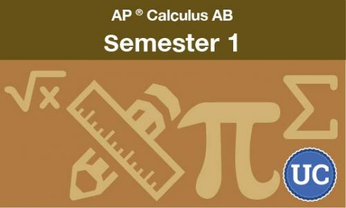 Advanced Placement Calculus AB Semester one