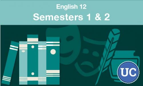 UC approved English 12 semesters one and two