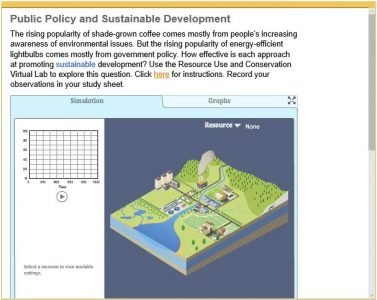 Advanced Placement Environmental Science - policy and sustainable development
