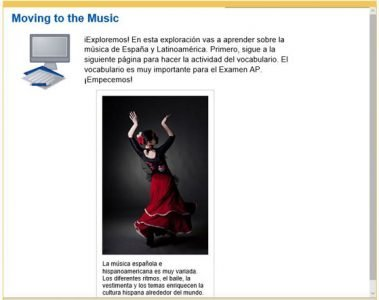 Advanced Placement Spanish - music