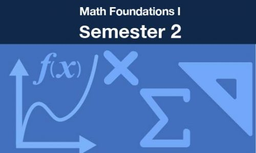 math foundations 1 Semester two
