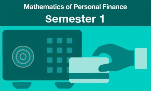 mathematics of personal finance Semester one