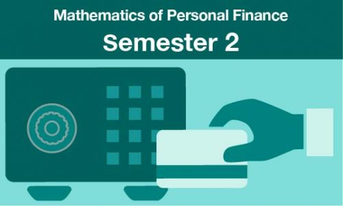 mathematics of personal finance Semester two