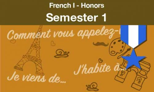 French one Honors Semester one