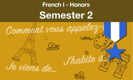 French one Honors Semester two