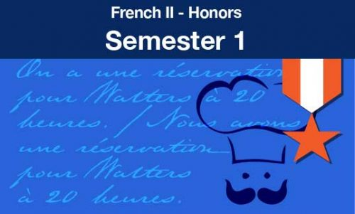 French two honors Semester one