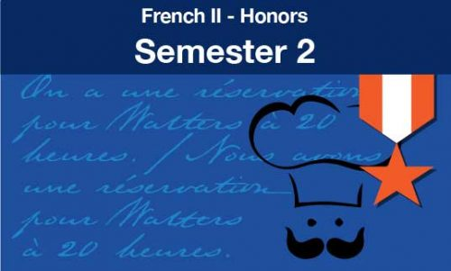 French two Honors Semester two