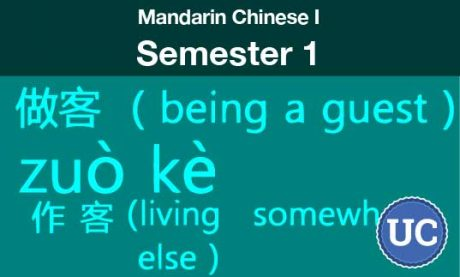 Mandarin Chinese one Semesters one and two