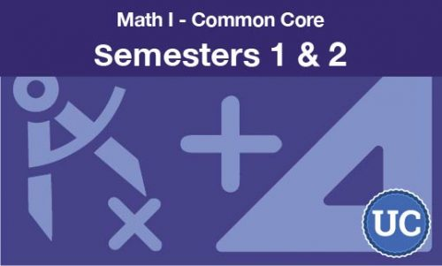 math 1 common core semesters one and two