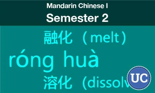Mandarin Chinese one Semester two
