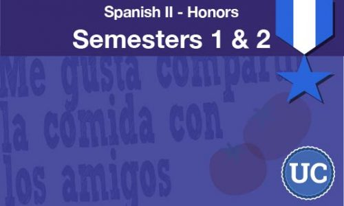 Spanish two Honors Semesters one and two
