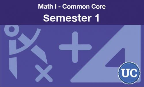 math 1 common core semester one