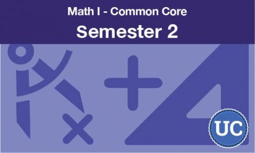 math 1 common core semester two
