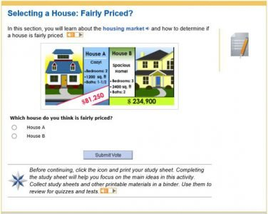 Mathematics of Personal Finance - selecting a house