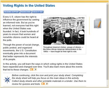 U.S. Government and Politics - voting rights in the U.S.