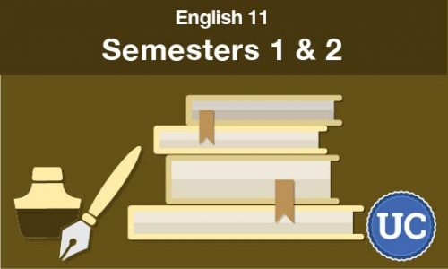 UC approved English 11 Semesters one and two