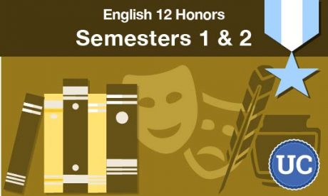 English 12 Honors semesters one and two