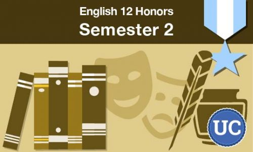 UC approved English 12 Honors Semester two