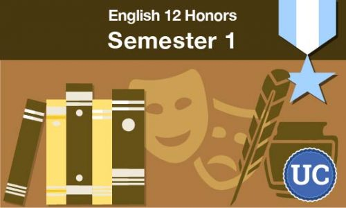 UC approved English 12 Honors Semester one