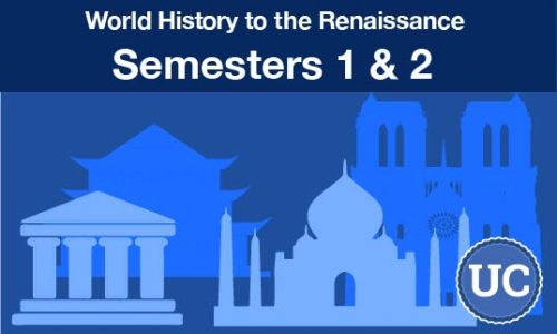 UC approved World History to the Renaissance semesters one and two