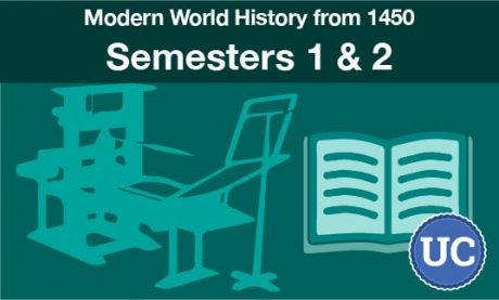 UC approved Modern World History from 1450 semesters one and two