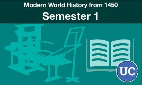 UC approved Modern World History from 1450 Semester one