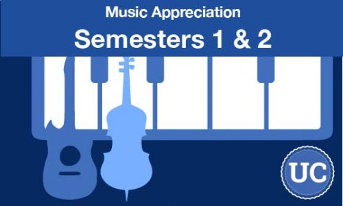 UC approved Music Appreciation semesters one and two