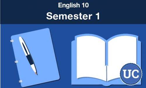 UC approved English 10 Semester one