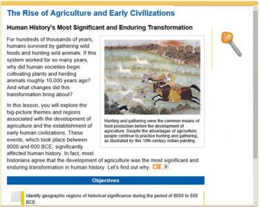 World History - rise of agriculture and early civilizations