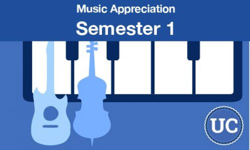 UC approved Music Appreciation Semester one