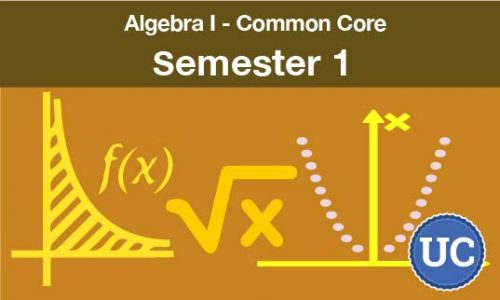 Algebra one common core Semester one