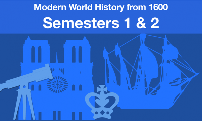 Modern World History From 1600 Semesters one and two