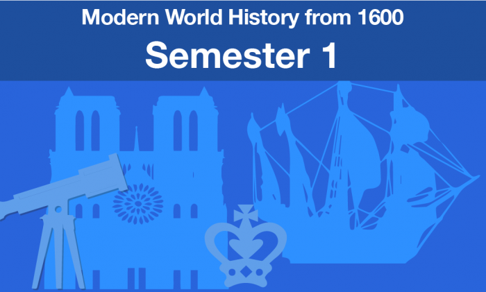 Modern World History From 1600 Semester one