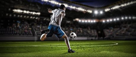 soccer player kicking the ball - ALVS and NCAA approved courses including collegiate soccer preparation