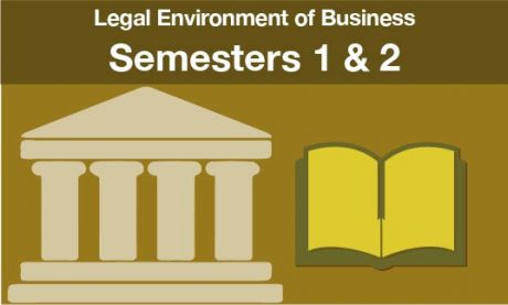 Legal Environment of Business Semesters one and two