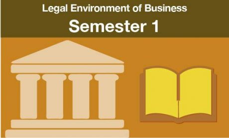 Legal Environment of Business Semester one