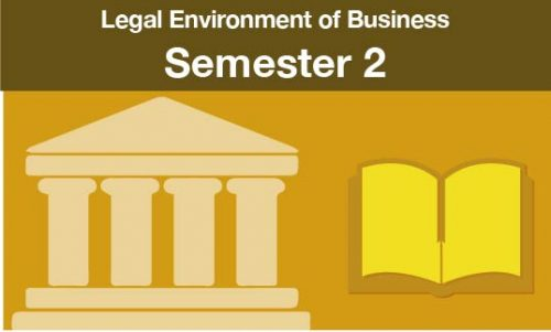 Legal Environment of Business Semester two